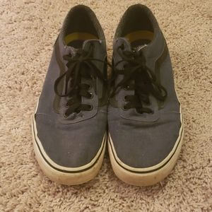 VAN's Blue with Black Stripe Size 10